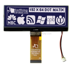 4.3 inch 192x64 Graphic COG LCD Module Display,IST3020,White on Black ERC19264DNS-1
